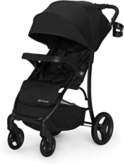 Kinderkraft Lightweight Stroller CRUISER Folding Large Canopy 4 Wheels Suspension for Children, Black