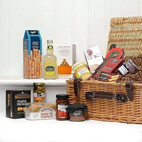 The Windsor Gourmet Wicker Food Gift Hamper - Gift Ideas for Mum, Valentines, Mother's Day, Birthday, Anniversary, Business and Corporate Presents, Dad, Fathers Day