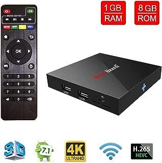 Greatlizard X96 Android 7.1 Smart TV Box 1GB RAM 8GB ROM WiFi 1080p 4K 64 Bit Media TV Set Top Box