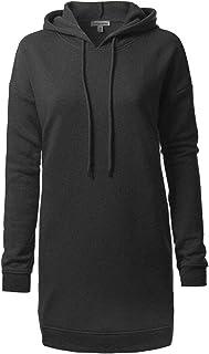 Olivia 设计女式休闲宽松长袖超大束腰运动衫 Ihow005 Charcoal Small/Medium