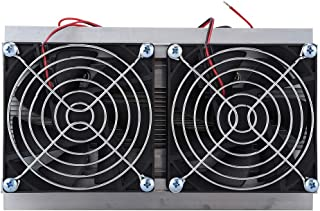 Thermoelectric Semiconductor Radiator Cooler Refrigeration Cooling Fan Heat Sink System Kit,2 Cooling Fans, 2 Large Fans a...