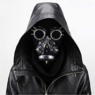 Sucastle Mask Plague Doctor Mask Ancient Silver Goggles Steampunk Gas Mask Kids Fun Carnival Props Party Paintball Carnival Role Playing