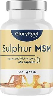 MSM Kapslar - Testvinnare 2020* - Laboratorietestat - 365 Veganska Kapslar - 1600 mg Metylsulfonylmetan (MSM) Pulver per D...