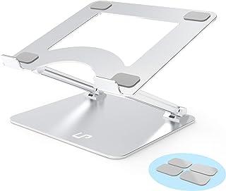 Laptop Stand, LP Computer Stand, Aluminum Alloy Multi-Angle Adjustable Laptop Holder for Desk Ergonomic Notebook Riser wit...