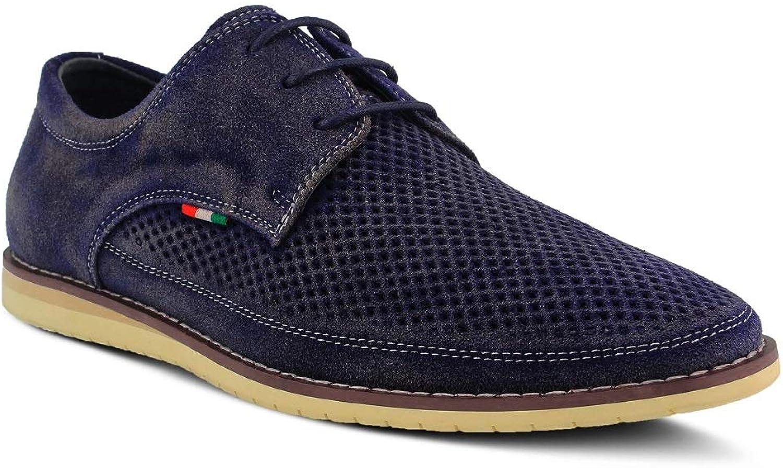 Spring Step Men Cirino shoes   color Navy   Suede shoes