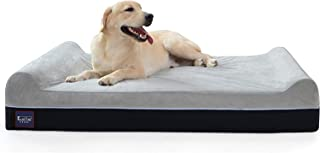 "Laifug Orthopedic Memory Foam Extra Large Dog Bed Pillow(50""x36""x10"", Slate Grey) Durable Water Proof Liner & Removable Wa..."