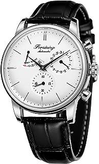 Forsining Men's Automatic Watch Power Reserve Date Display Fashion Mechanical Wristwatch