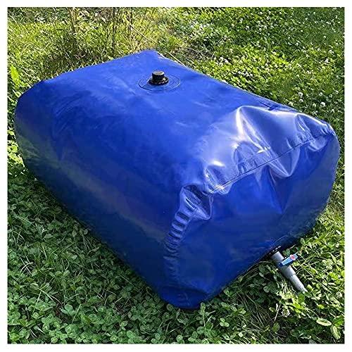 XJJUN Sacca d'Acqua Pieghevole, Contenitore per Acqua Potabile Secchio d'Acqua Flessibile Ad Alta capacità con Rubinetto, per Acqua di Emergenza Antincendio (Color : Blue, Size : 500L/1.5X0.9X0.4M)