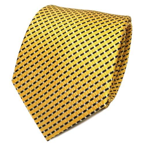 TigerTie - Corbata - Rayas - para hombre amarillo amarillo Talla única