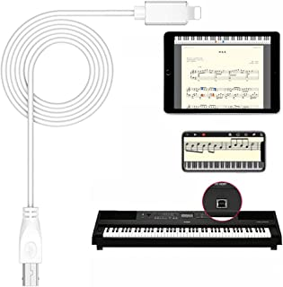 MIDI Cable Adapter USB Type B to Midi Cable OTG Cable for iPhone/iPad to Midi Controller, Electronic Music Instrument, MIDI Keyboard Converter Cable, Recording Audio Interface, 3.3FT