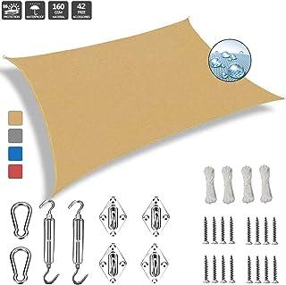 comprar comparacion Toldo Vela Rectangular 2x2.5m Toldos IKEA Impermeable 304 Acero Inoxidable Kit de Montaje para Jardin Terraza Patio Gris, ...