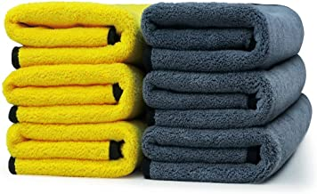 VRT® Ultra Premium Super Absorbent Extra Thick Multipurpose Microfibre Cloth for Car Cleaning, Kitchen, Bike, Laptop, LED TV, Mirrors, Bathrooms, Furniture and Many More(45 x 45 cm) pack of 3