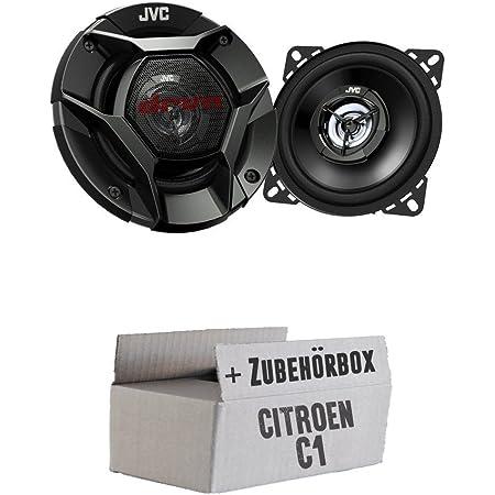 Jvc Cs Dr420 10cm 2 Wege Koax Lautsprecher Einbauset Für Citroen C1 Just Sound Best Choice For Caraudio Navigation