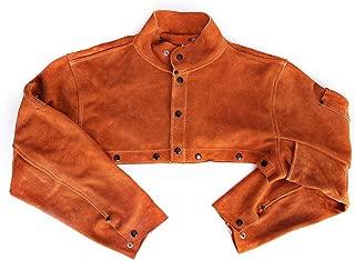 EULANGDE Premium Split Welders Heat Resistant Leather Cape Sleeve,Adjustable Cuffs, Adjustable Collar, M L XL XXL XXXL for Men & Women (Medium)