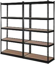 2x New Giantz Steel Warehouse Storage Rack Garage Shelving Racking Unit Black