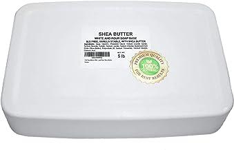 5 lb Shea Butter Soap Base Premium Natural Shea Butter Melt and Pour Soap Base for Best soap Making Results White melt and Pour soap Base