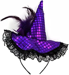 Halloween Witch Hat Headband with Lace- Halloween Costume