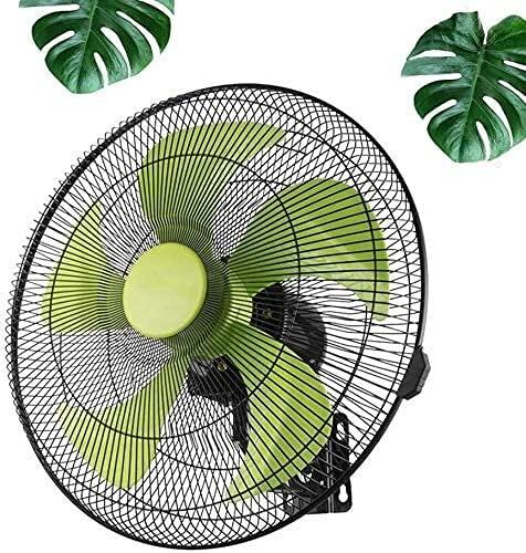 TOPNIU Wall Mounted Oscillating Fan Indoor Wall Mounted Fans Oscillating Wall Fan 3 Speed 18inch Safety Net Cover Green Leaf