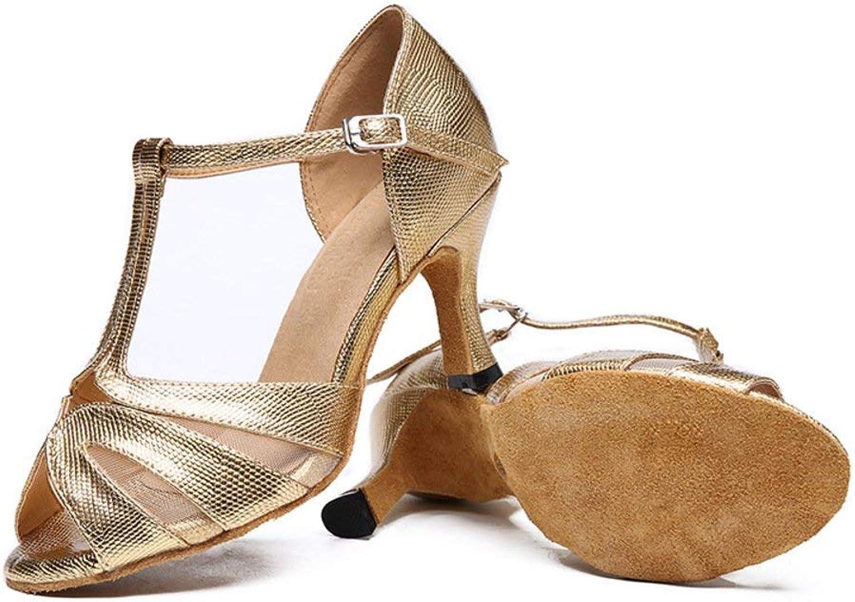 Fuxitoggo Lateinamerikanische Tanzschuhe der Frauen, Soziale Tanzschuhe Tanzschuhe Tanzschuhe Tanzschuhe Ballsaal Tanzschuhe (Farbe   Golden, Größe   Foot Length=23.8CM9.4Inch)  63c78a