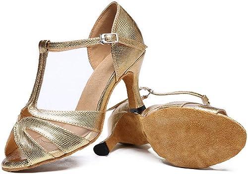 ZHRUI schuhe de Baile Latino para damen, schuhe de Baile Social schuhe de Baile schuhe de Baile de salón (Farbe   Dorado, tamaño   Foot Length=21.8CM8.6Inch)