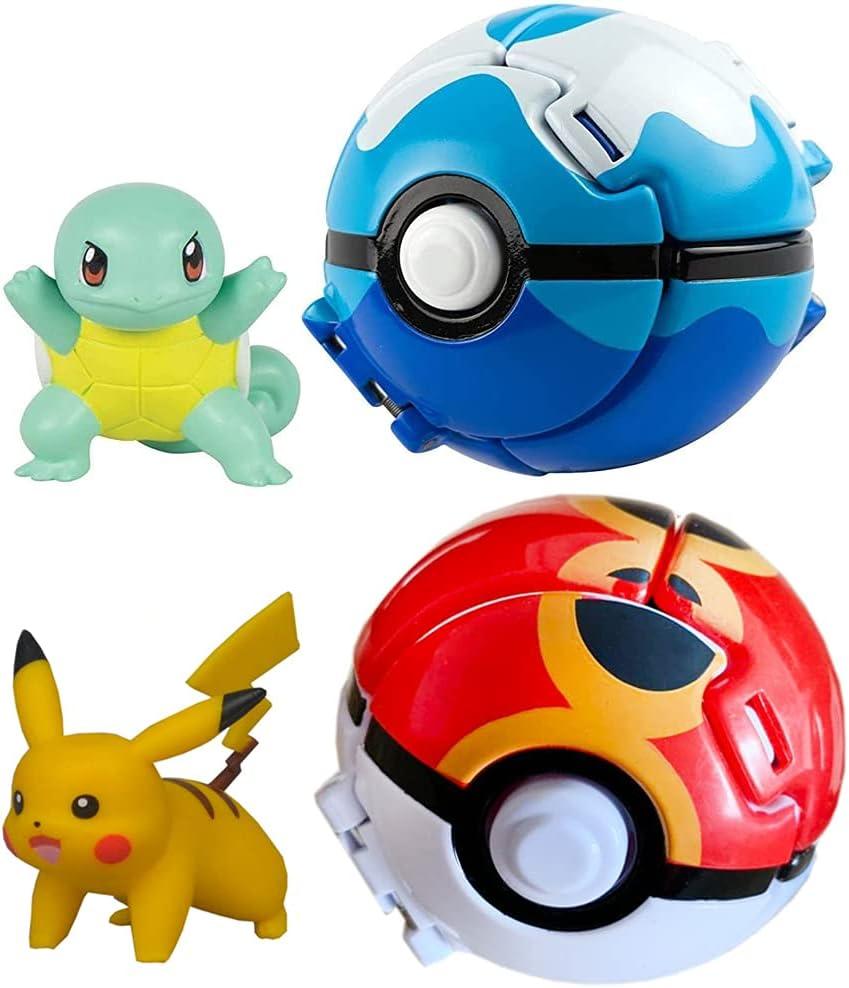 2-Piece Pack Figures & Pokeballs, Throw 'N' Pop Poké Ball, Kids Educational...