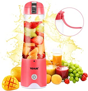 Portable Blender for Shakes Smoothies Small Travel Blenders Lightweight Cordless Mini Juicer Cup Personal Size Fruit Mixer USB Rechargeable Baby Food Blender Single Serving Juice Blend Jet