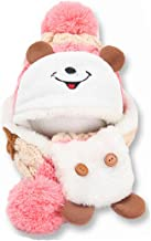 Cute Animal Ear Cat Ear Hat and Scarf Set Winter Beanies Knitted Cap for Baby Toddlers Kids