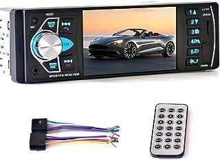 4.1-inch Bluetooth Car Stereo with Rear Camera, Digital Media Player Car Audio FM Radio, Car MP3 Player USB TF FM Hands Fr...