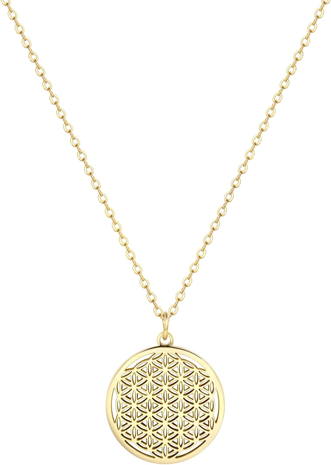 Happiness Boutique Women Flower of Life Necklace Gold Color Deli