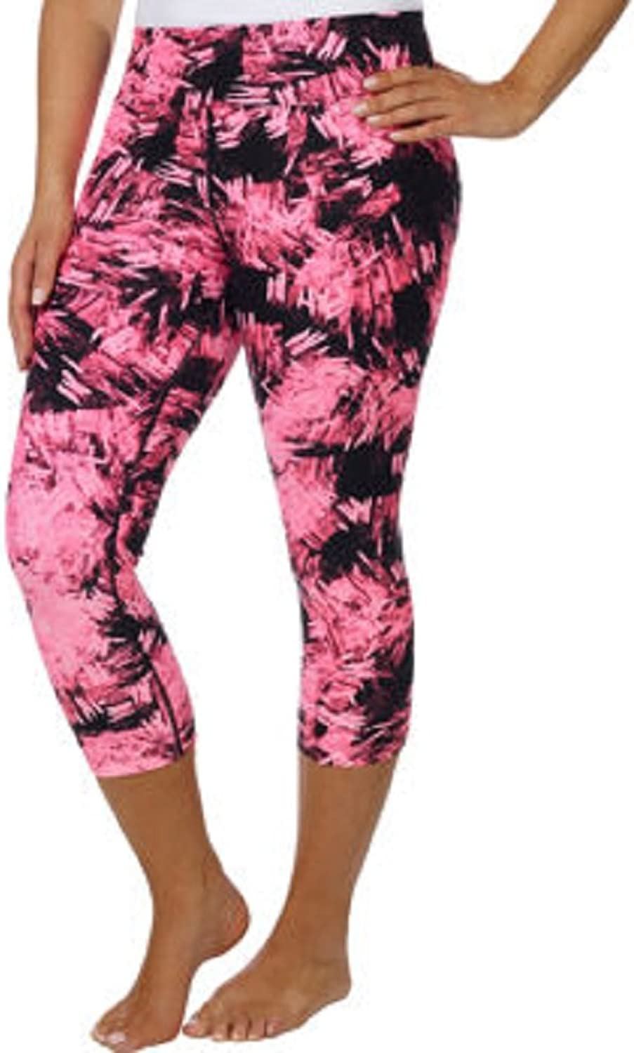 Andrew Marc Marc New York Ladies' Printed Crop TightPink, Small