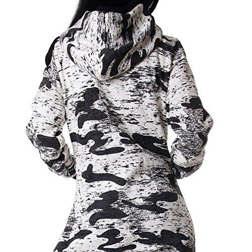 Crazy Age Jumpsuit Army Camouflage Neue Tarnfarben Batik CA 2820 (Schwarz/weiß) - 4