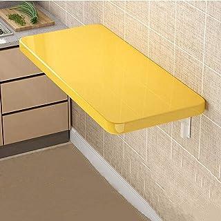 ZCYY Table Murale, Bureau de Table à abattant Mural Pliant, étagère de Rangement de Cuisine avec Support, Table à Manger M...