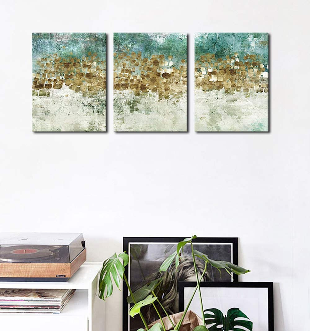 Flower Canvas Wall Art Bedroom Wall Decor White Blossom Blue Abstract Large Canvas Picture Modern Artwork