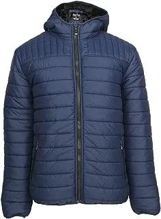 Men's Hooded Packable Jackets Lightweight Full Zip Winter Cotton Coat Leehanton