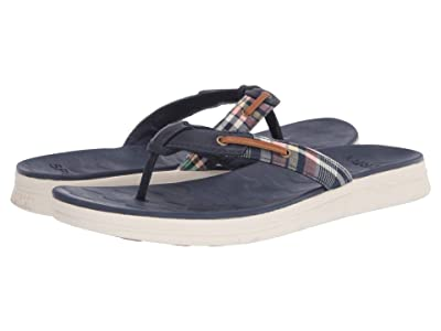 Sperry Adriatic Thong Skip Lace Washed Plaid (Kick Back Plaid) Women