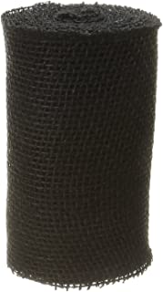 DARICE 2914-043240gm Burlap Ribbon, 6-Inch by 5-Yard, Black