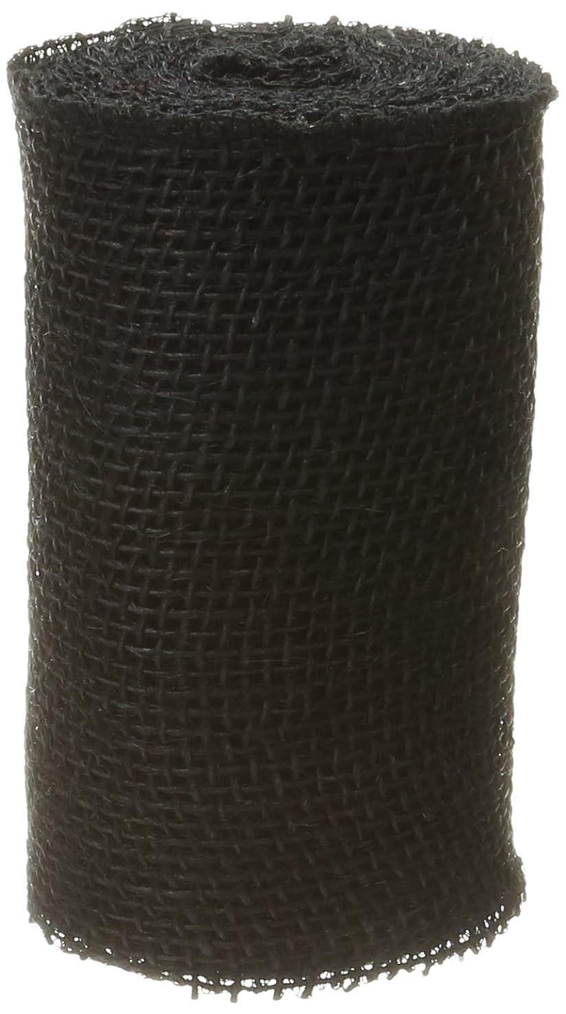 DARICE 2914-043240gm Burlap Ribbon, 6-Inch by 5-Yard, Black