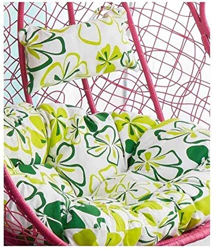 Swing Chair Cushion, Round Patio Garden Wicker Hanging Egg Rattan Chair Hammock Pad, Indoor Or Outdoor, Without Stand (Color : J, Size : 105x105cm(41x41inch))