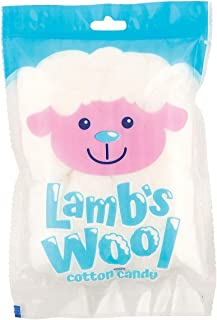 Lamb's Wool Cotton Candy Packs for Easter (12 Individual Packs) Strawberry Flavor