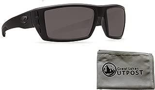 Costa del Mar Rafael Gray 580P Blackout Frame Sunglasses w/Cloth