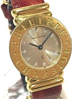 (フィリップ・シャリオール)PHILIPPE CHARRIOL 7007901 サントロぺ 12Pジルコニア レディース腕時計 腕時計 GP/革ベルト レディース 中古