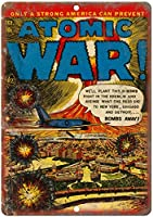 原子戦争エースコミックヴィンテージティンサイン装飾ヴィンテージ壁金属プラークレトロ鉄絵カフェバー映画ギフト結婚式誕生日警告