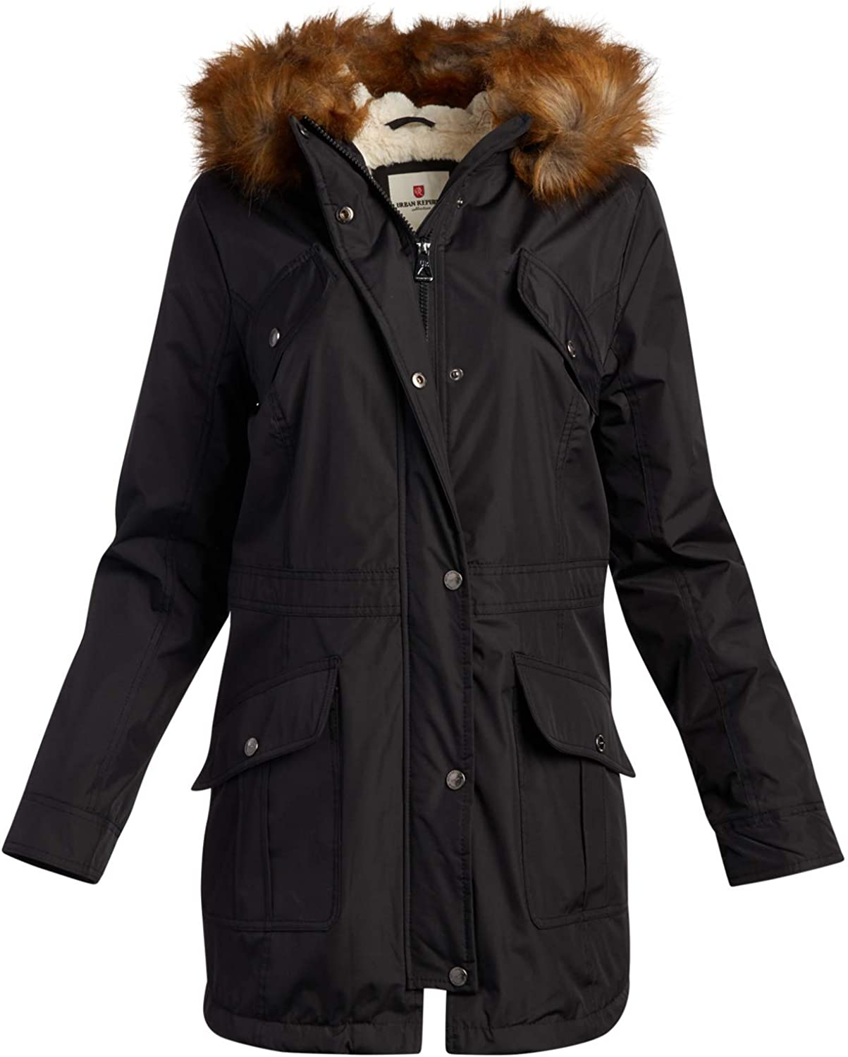 URBAN REPUBLIC Women's Winter Jacket - Heavyweight Water Resistant Expedition Faux-Fur Lined Parka Jacket