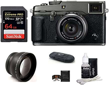$2299 Get FUJIFILM X-Pro2 Mirrorless Digital Camera with XF 23mm f/2 R WR Lens (Graphite) Bundle: Includes; 64GB Extreme PRO SDXC Memory Card + 43mm Telephoto Lens + More
