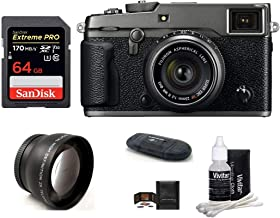 $1969 Get FUJIFILM X-Pro2 Mirrorless Digital Camera with XF 23mm f/2 R WR Lens (Graphite) Bundle: Includes; 64GB Extreme PRO SDXC Memory Card + 43mm Telephoto Lens + More
