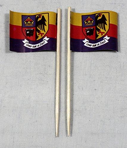 Buddel-Bini Party-Picker Flagge Nordfriesland Papierfähnchen in Profiqualität 50 Stück 8 cm Offsetdruck Riesenauswahl aus eigener Herstellung