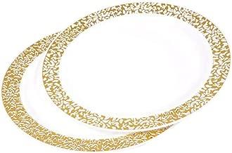Diner Presque Parfait Lace Set of 6Plates 23cm Gold