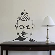 Rawpockets 'Buddha Peaceful' Wall Sticker (PVC Vinyl, 1 cm x 44 cm x 58 cm, Black)