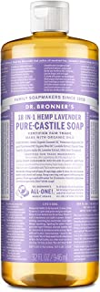 Dr. Bronner's - Pure-Castile Liquid Soap (Lavender, 32 ounce) - Made with Organic Oils, 18-in-1 Uses: Face, Body, Hair, La...