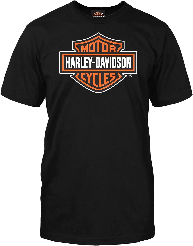 Harley-Davidson Military Ranking TOP1 Be super welcome - Bar Shield Black on Orange T-Shirt